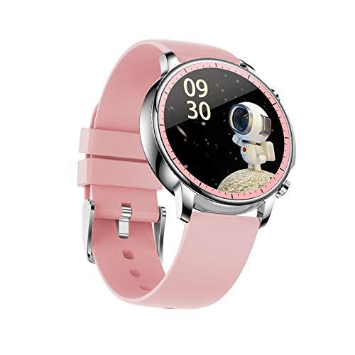 Reloj Fitness Trackers, inteligente con monitor de ritmo cardíaco, rastreador de actividad con pantalla táctil de 1,28 pulgadas, IP67 impermeable podómetro pulsera inteligente con monitor de sueño