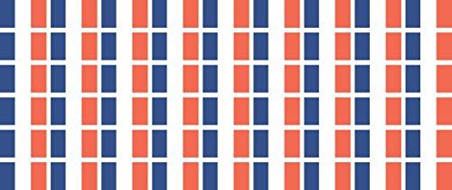 Mini Aufkleber Set - Pack glatt - 20x12mm - Sticker - Fahne - Frankreich - Flagge - Banner - Standarte fürs Auto, Büro, zu Hause & die Schule - 54 Stück