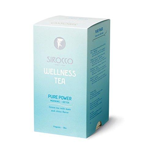 SIROCCO TEE - DETOX – WELLNESS Tea Pure Power - Organisches Grüntee mit Mate und Zitrusaromen - 20 Teebeutel