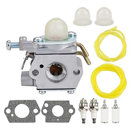 Kamenda C1UH142 Vergaser mit Kraftstoffleitung Tune Up Kit für Homelite UT-085801 UT-21947 Craftsman 26CC Kantenschneider Gebläse