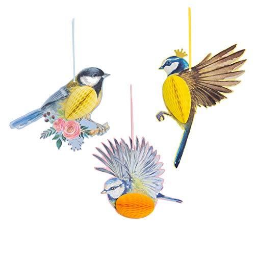 SUNBEAUTY Papier Vögel Dekoration Tier Party Garten Kinderzimmer Deko