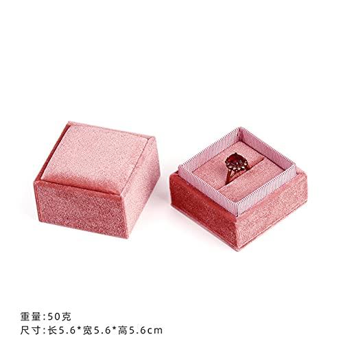 USNASLM delicato fatto a mano vintage velluto ciondolo collana scatole regalo nastro rosa anello di stoccaggio scatole gioielli imballaggio