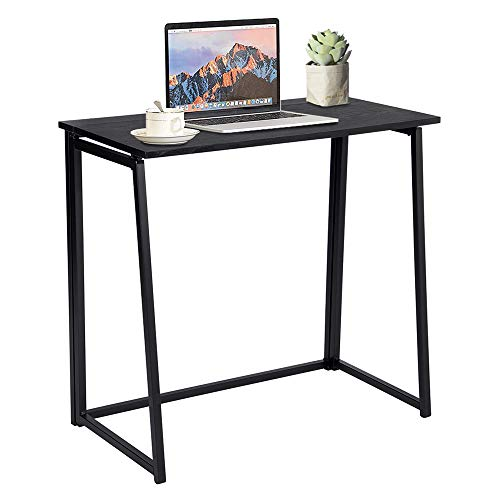 GreenForest Folding Desk, Industrial Small Computer Desk Space Saving Foldable Study Table, Easy...