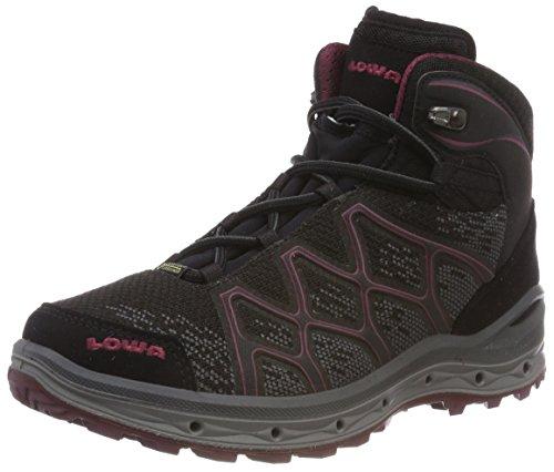 Lowa Damen Trekkingstiefel Aerox GTX Mid 320611 Black/Berry 38