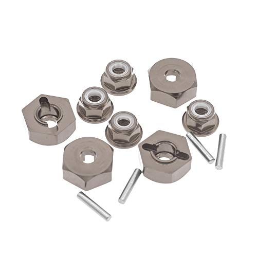 12mm Aluminum Wheel Hex Drive Hub Adaptor (4P) & M4 Locknut (4P) RC Model Car Parts