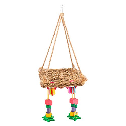 TEHAUX Colgante loro-colgante columpio loro pájaro escalada juguete masticar juguete loro jaula accesorios