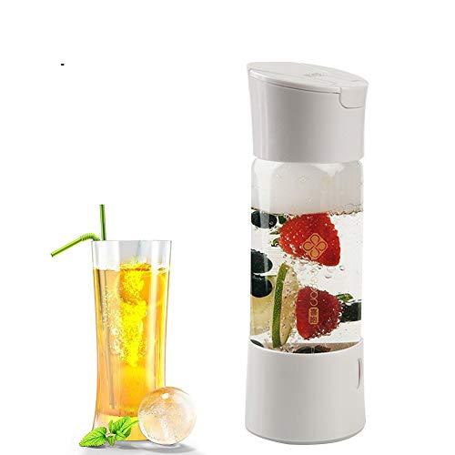 ILH Générateur d'eau Étincelante en Cristal Portatif De Fabricants De Soda pour Le Jus De Fruit De Bulle De DIY Carbonaté des Boissons Saines-500Ml,White