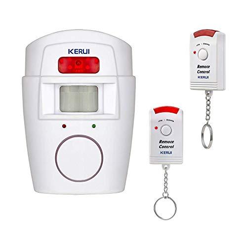 Kerui - Wireless-Infrarot-Alarmanlage mit Bewegungsmelder 105dB Sirene Sicherheit für Haus / Garage / Garten / Caravan, Camping-Car