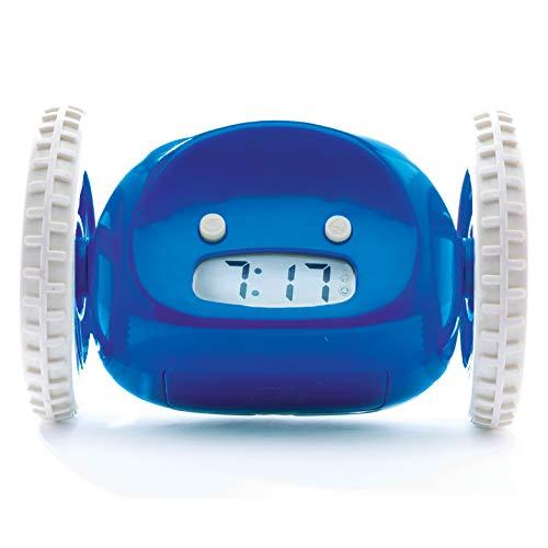Clocky Wecker auf Rädern (Original) | extra laut für Schwerschläfer (Erwachsenen- oder Kinderschlafzimmer Roboteruhr) lustig, rollend, weglaufen, bewegen, springen (Marineblau)