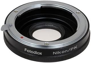 Fotodiox Pro Lens Mount Adapter - Nikon Nikkor F Mount D/SLR Lens to Pentax K (PK) Mount SLR Camera Body