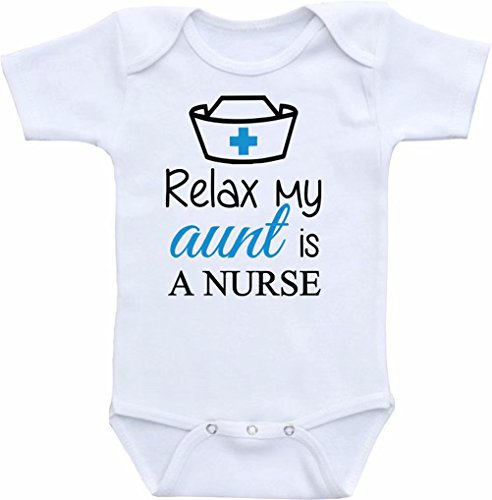 Promini Funny Relax My Aunt is a Nurse - Body de bebé de una sola pieza, mameluco para bebé, el mejor regalo para bebé