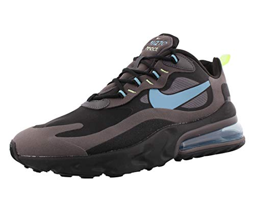 Nike Herren Air Max 270 React Leichtathletik-Schuh, Negro Cerulean Thunder Grey Barely Volt, 38.5 EU