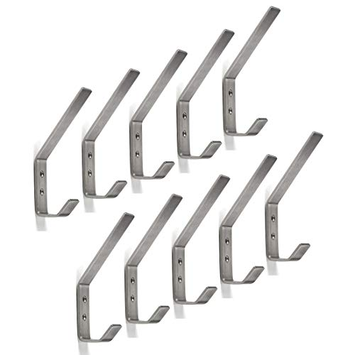 Sotech 10 x SO-TECH® Kleiderhaken ALBA moderner Mantelhaken echt Edelstahl 142 x 20 mm Huthaken Garderobenhaken