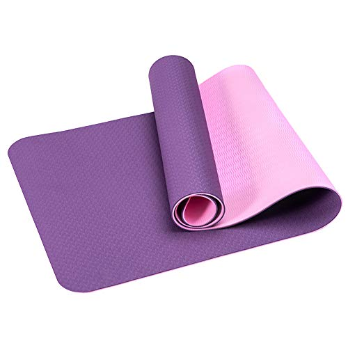 Strimusimak - Alfombrilla de yoga para pilates, color morado claro