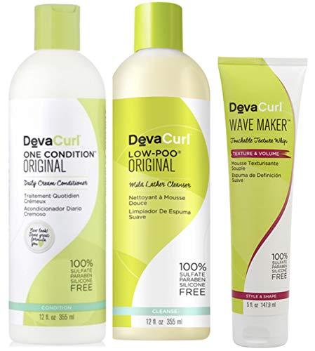 Devacurl No-poo Shampoo & Devacurl One Condition 12oz + Wave Maker 5oz