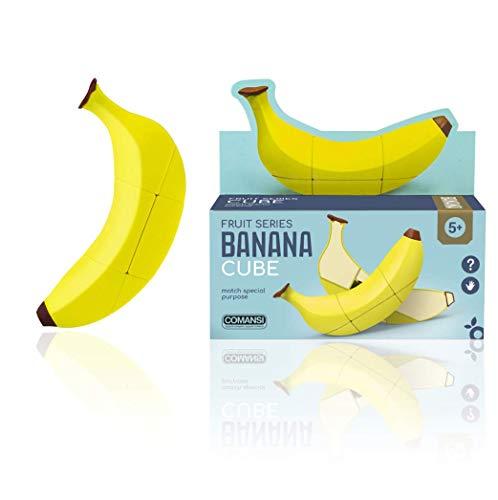 Comansi Banana Cube-Cubo Mágico de Velocidad con Forma de Frutas. Juego Educativo para desarrollar la Inteligencia y la destreza, 15 x 4 x 8 cm (1)