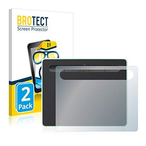 BROTECT Protector Pantalla Compatible con Wacom Intuos S Bluetooth Protector Transparente (2 Unidades) Anti-Huellas