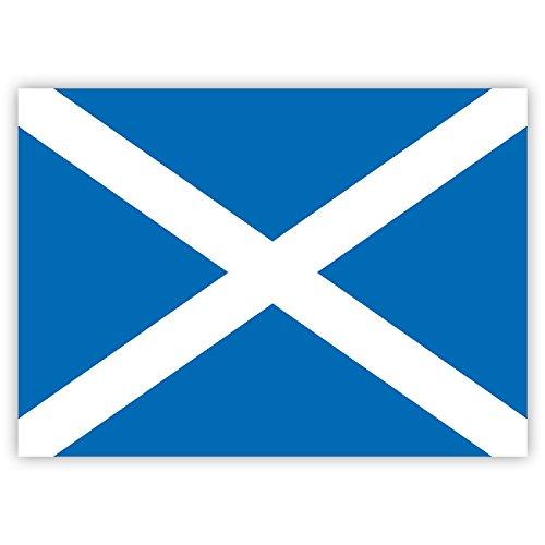 """10 x Aufkleber Schottland-Flagge (""""Saltire Cross""""-Fahne), 7,4 x 5,2 cm für innen und außen"""