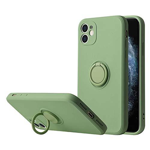 Funda Compatible con Apple iPhone 12 Pro Teléfono Móvil Silicona Liquida Bumper Case y Flexible Ultra Slim Anti-Rasguño Protectora Caso con 360 Grados Rotaria Ring Holder (12 Pro, 6)