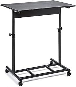Audio-Visual Direct Ergonomic Adjustable Standing Desk - 102 cm Wide Single Top Lockable Wheels Easy Adjust Knobs