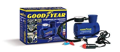 GoodYear 77364 Compressor met manometer 250 PSI 12 V, blauw