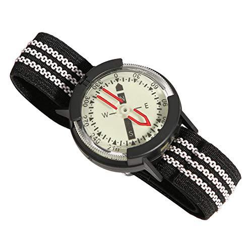 Reloj de brújula resistente al agua, ligero, luminoso, con esfera ajustable, brújula, portátil, duradero, resistente al agua para acampar