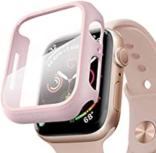 pzoz Compatible Apple Watch Series 6 /5 /4 /SE 40mm Case with Screen Protector Accessories Slim Guard Thin Bumper Full Coverage Matte Hard Cover Defense Edge for Women Men New Gen GPS iWatch (Pink)