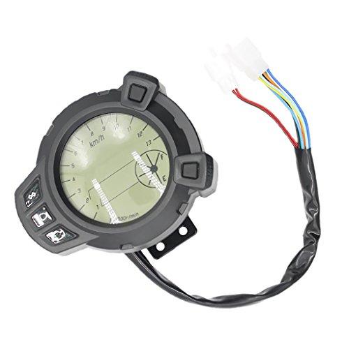 Sharplace Indicador Velocidad Voltaje Nivel de Aceite con Reloj para Motocicleta