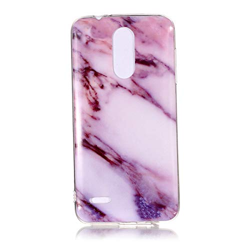 Yhuisen Handy-Taschen und Handy-Hüllen, LG K8 2018 Fall, Marmor Stein Muster weichen TPU zurück Shell Fall für LG K8 2018 (Farbe : 4)