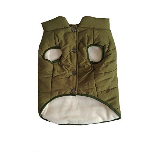 PENVIO Hundekleidung Winter warme Mäntel und Jacken, Hündchen Weste Bekleidung für kleine mittlere große Hunde Feder Kleidung (L, Grün)
