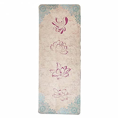 N\C La Esterilla de Yoga de Goma de Gamuza Antideslizante Plegable de 183 cm x 68 cm y 1/2/3/4/5 mm Tiene Una Gran Resistencia al Desgarro y Agarre. Es Una Opción Ideal para Los Practicantes de Yoga.