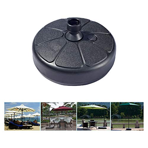 LYYJIAJU Concrete Parasol Base Round Strong Outdoor Garden Beach Sand Fillable Umbrella Stand Parasol Base Holder Umbrella Holder Rain Gear