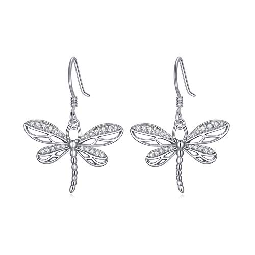 925 Sterling Silver Dragonfly Earrings for Women Celtic Dragonfly Dangle Earrings Dragonfly Gifts for Dragonfly Lovers