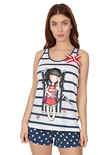 Santoro Pijama Tirantes Summer Days para Mujer, Color Marino
