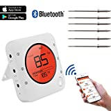 Meat Thermometer, Bluetooth Wireless Digital Grill Thermometer,Smart BBQ Thermometer with 6 Upgraded...