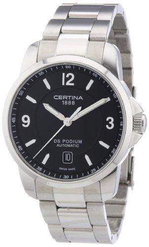 Certina DS Podium C001.407.11.057.00 - Reloj analógico automático para Hombre, Correa de Acero Inoxidable Color Gris