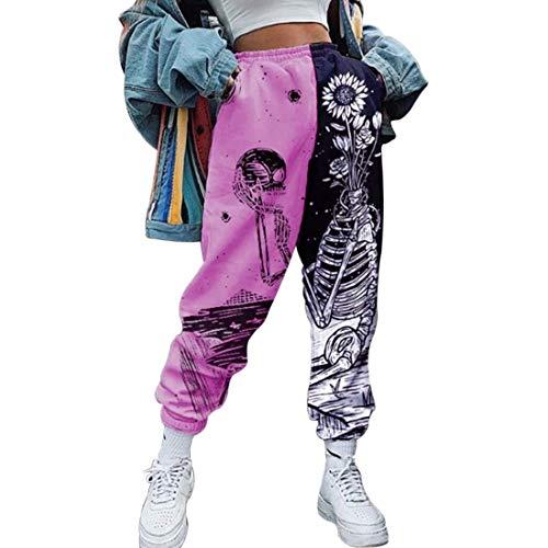 ARR Pantalones Deportivos Mujer, Pantalones Deportivos Holgados, Pantalones Largos de Yoga, Cintura elástica, Pantalones de Ocio, Pantalones para Correr, Cintura Alta