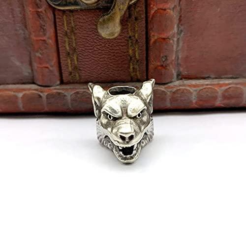 Me Plus Drawihi Brass Wolf Head Warrior Knife Beads Pendants Jewelry Outdoor Umbrella Rope Handmade Lanyard Hangings Keychains Accessories