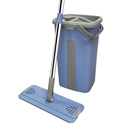 Haushaltsflachmop Freihandwaschmopp Eimer, Wasch- Und Mopp Integrierte Trocken- Und Nasstrennung 38 * 21.5 * 19CM B5