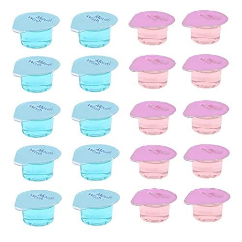Runfon Enjuague bucal desechable portátil Limpiador Oral a refrescar el Aliento Goma de Enjuague bucal líquido Salud Dientes higiene Oral Blanqueamiento 20pcs