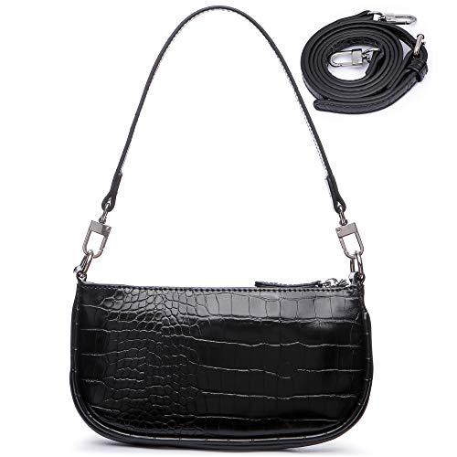 Mini Shoulder Bags for Women Small Y2K Bag Clutch Purse Crossbody Purses Black