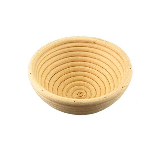 CHENGYIDA Lot de 10 petits bannetons ronds en rotin 13 cm