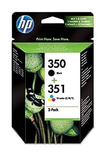 HP 350-351 - Pack de ahorro de 2 cartuchos de tinta Original HP 350 Negro , HP 351 Tricolor para HP OfficeJet y HP PhotoSmart (B001V63ID8) | Amazon price tracker / tracking, Amazon price history charts, Amazon price watches, Amazon price drop alerts