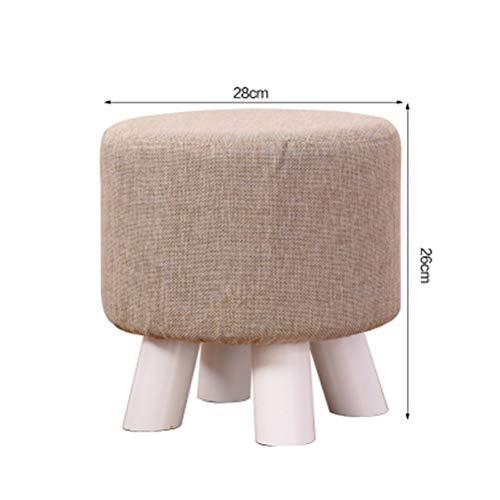 LQJYXD schoenenkruk massief houten kruk mode dressing bank kruk werkkamer bureaukruk Home Dining stoelen tafelkruk creatieve kruk (28x26cm) (kleur: B)