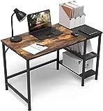 ZIK Scrivania Salvaspazio per Pc, Ufficio e Cameretta, in Legno, Organizer Design Industriale – 120x60x75h