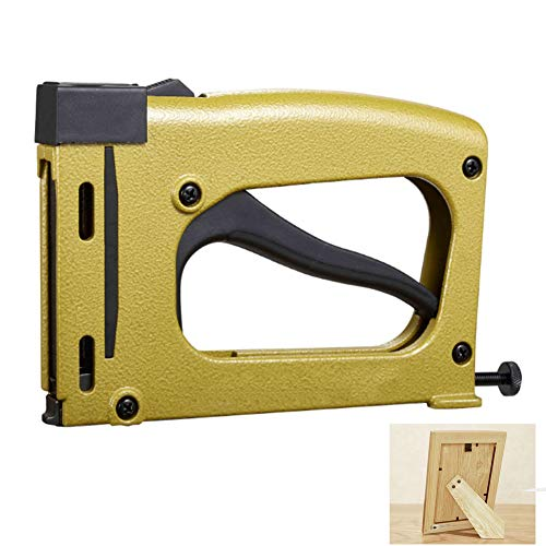 Hand Staple Gun,Manual Brad Nail Nailer Tacker with 1000 Staples,Heavy Duty Gun for Picture And Art Framing Industry(200×125×30MM)