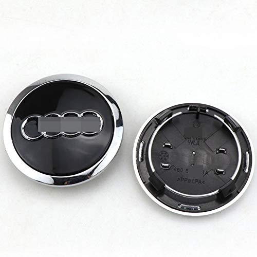 HHYM 4 PCS/Set Rueda Caps Caps Ajuste para EL AUDIÓN DE LA Rueda DE Audi CUERDO Cubierta DE CUERBLE DE LA Rueda DE Coches DE LA Rueda DE CUCHO Accesorios DE Styling 69mm 326 (Color : Black)