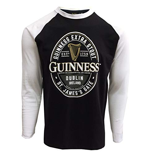 Guinness Irish Label Manche Longue Col Rond pour des Hommes Jersey De Hockey sur Glace Vert
