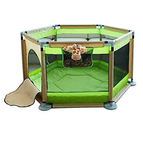 Kojec dla dzieci Gospodarstwo domowe Dziecko Niemowlę Ogrodzenie do zabawy Bar składany Barierka ochronna dla dzieci Dywanik dla dzieci Miękka pianka Parawan Kolor: zielony
