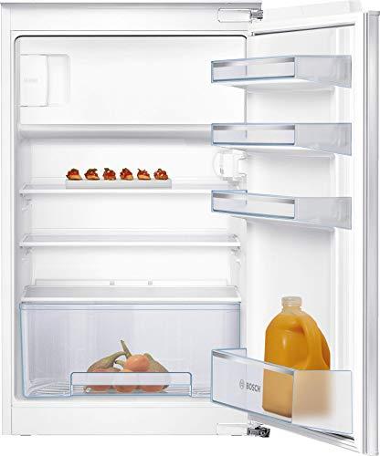 Bosch KIL18NFF0 Serie 2 Einbau-Kühlschrank mit Gefrierfach / F / 88 cm Nischenhöhe / 185 kWh/Jahr / 112 L Kühlteil / 17 L Gefrierteil / MultiBox / FreshSense